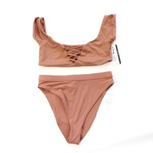 NWT Dolls Kill Dippin Daisys Seamless Nude Bikini